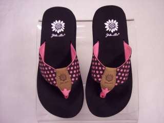 Yellow Box Flip Flops Fusion Pink   Brown w/ Pink Dots