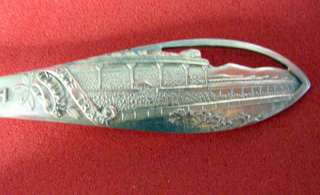 Tijuana, Mexico Horse Race Track Sterling Silver Souvenir Spoon 5 1/4