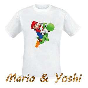 Kinder T Shirt Mario Yoshi Super Mario Bros . verschiedene Größen