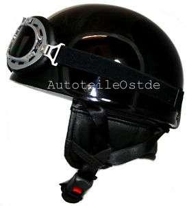retro oldtimer motorradhelm brille motorrad helm fr ddr moped. Black Bedroom Furniture Sets. Home Design Ideas