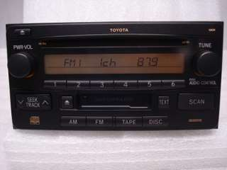 01 02 03 2004 2005 2006 Toyota Rav4 Radio  CD Player