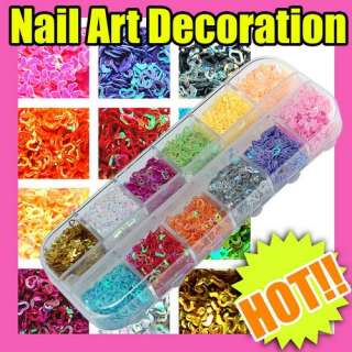 12 practical nail art hollow heart decoration tips S137