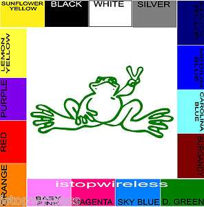 DECAL STICKER CAR TRUCK LAPTOP CHOOSE SIZE & COLOR PEACE FROG