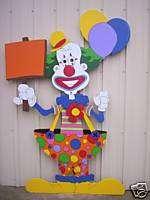 Birthday Party Clown Large Skinny Yard Art Decoration