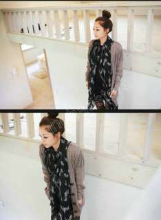 4Colors Women Lady Girl Soft Cotton Scarf Wrap Shawl Fashion Zebra 1
