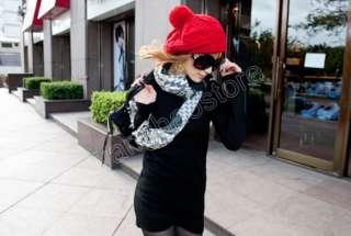 Check Gold Chain Cotton Long Scarf Shawl Wrap Fashion Ladys Women New
