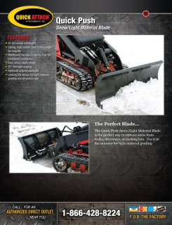 Mini Skid Steer Snow Blade Plow Bobcat Toro Attachment