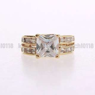 3CT 18K Gold Plated Clear CZ Ring ML0735