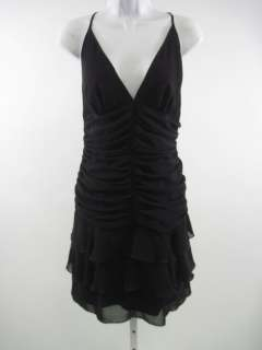 ABS Ruffle Zipper Back Spaghetti Strap Dress Sz 10