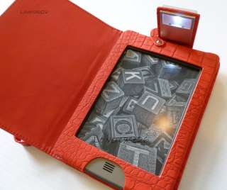 cover 4 Kindle Touch LED attached foldaway light PU leather ship fr US