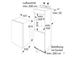 Einbau Kühlschrank BOSCH KIR 18V20FF Schlepptür A+
