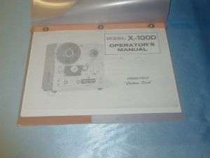 AKAI X 100D REEL TO REEL TAPE DECK OPERATORS MANUAL