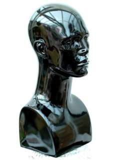 High Quality Black Male Mannequin Head Shop Display