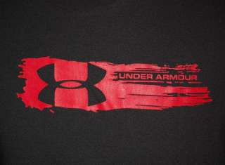 UNDER ARMOUR BLACK GRAY LONG SLEEVE ATHLETIC FITNESS T SHIRT YOUTH