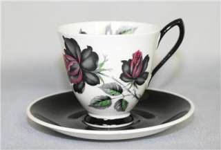 Vintage ROYAL ALBERT Bone China COFFEE CUP & SAUCER c1945+ MASQUERADE