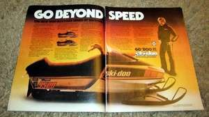 1980 Ski Doo Blizzard 9500 Snowmobile Original Color Ad