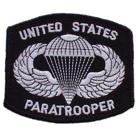 PATCH PARATROOPER JUMP WINGS AIRBORNE BLACK ARMY CAP HAT JACKET PATCH