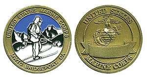 USMC MARINE CORPS MWTC BRIDGEPORT BIG CHALLENGE COIN