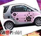 KIT ADESIVI STICKERS FIORI HAWAII IBISCUS AUTO FIAT 500 SMART TUNING