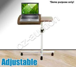 Brand New! Portable Adjustable Laptop Table Desk Trolley with Caster