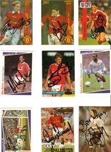 Man Utd Assorted Signed Trading Cards AFTAL/UACC