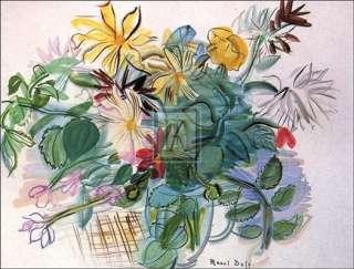 RAOUL DUFY Bouquet des Fleurs FLOWERS vase new print
