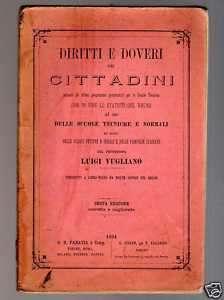 DIRITTI E DOVERI DEL CITTADINO di L. Vugliano 1894