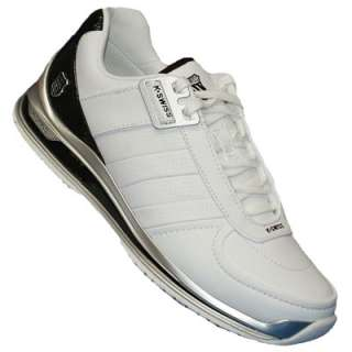 Swiss Rinzler Jewel Trainers White/Black/Silver Mens