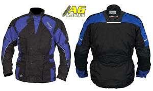 Akito Python II Jacket Enduro Motorcycle Black Blue L
