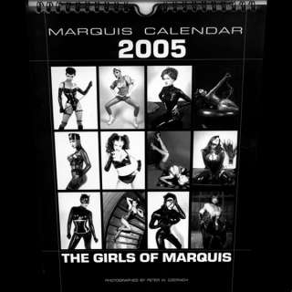 MARQUIS 2005 WALL CALENDAR RUBBER LATEX DRESS CORSET DITA VON TEESE