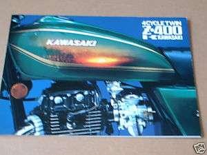 1978 KAWASAKI Z 400 JAPANESE SALES FOLDER