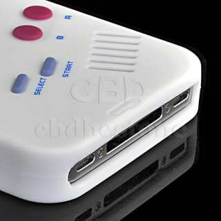 White Nintendo Silicone Case Game Boy For iPhone 4 4G