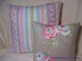 Shabby Chic Laura Ashley Clementine Stripe Pink Blue Green Large