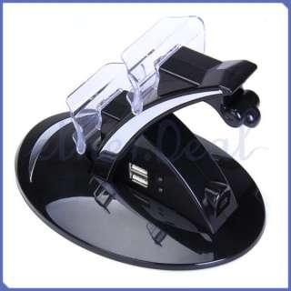 Dual Ladestation USB Dock Ladegerät für PS3 PlayStation 3 Controller