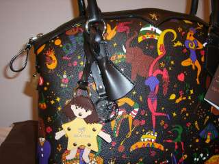 BORSA A SPALLE PIERO GUIDI LINEA MAGIC CIRCUS NERA