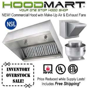 Restaurant Hood System 5ft Commercial Kitchen Vent w/ Make Up Air