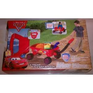 Walt Disney Cars Xtreme Raceway Wagon   Red Toys & Games