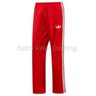 Adidas Originals Firebird Red & White Retro Tracksuit Bottoms Jogger