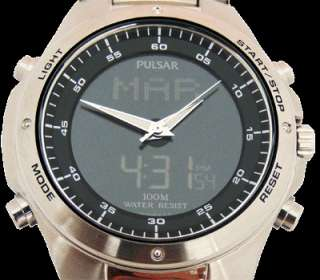 NX14 X003 Pulsar Mens Gents Alarm World Time Watch