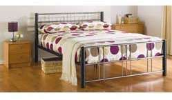 Atlas Black Metal Double Bed Frame.