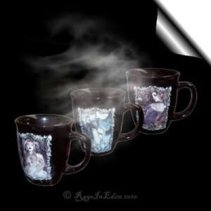 FRANCES* Gothic Fantasy Art Gift Boxed Set Of 3 Black Tea Coffee Mugs