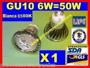 LAMPADA LED 6W = 50W GU10 DICROICA FARETTO 230V GU 10