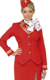 Virgin Air Hostess Ladies Fancy Dress Costume 8   16