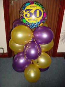 HAPPY 30th BIRTHDAY FOIL AND LATEX BALLOON DISPLAY