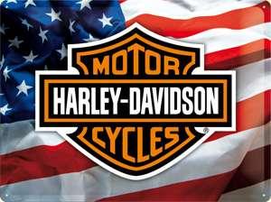 ,Blechdose,Metall Dose,Motiv Harley Davidson Logo,Motorrad,Neu