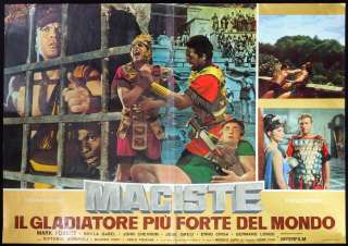 CINEMA fotobusta MACISTE GLADIATORE PIU FORTE DEL MONDO