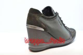 A10 PRADA scarpe shoes scarpe con la zeppa 3EZ029 SCAMOSCIATO