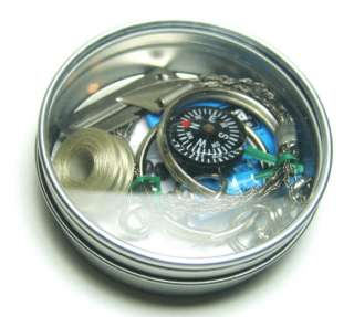 New Blank Round Metal Clear Lid Survival Kit Tins #6