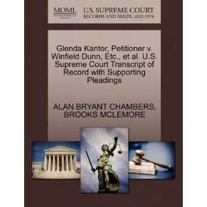 Glenda Kantor, Petitioner v. Winfield Dunn, Etc., et al. U
