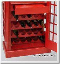 british PHONE Booth LIQUOR CABINET WINE old cast iron styl man cave